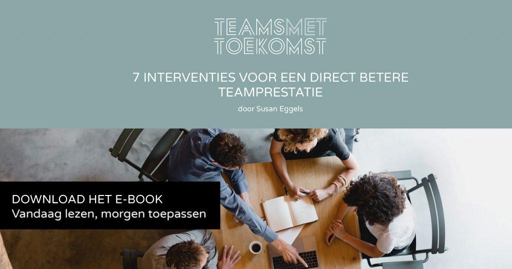 Teams met Toekomst direct verbeterde teamresultaat